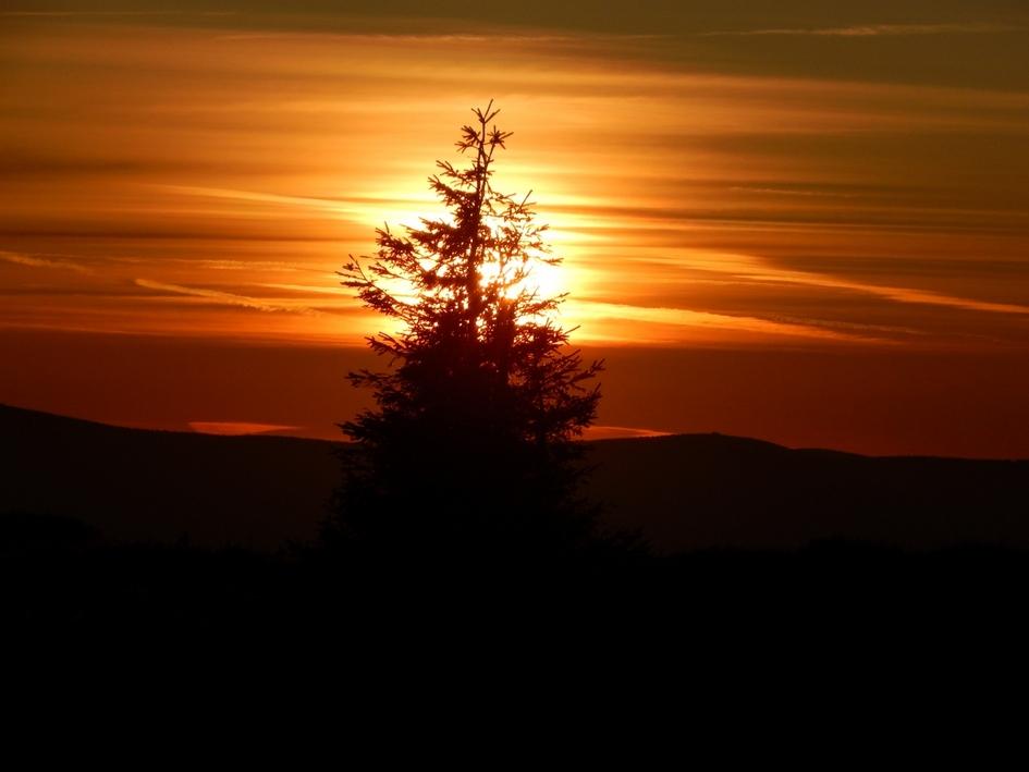 Słońce wstaje na Śnieżniku