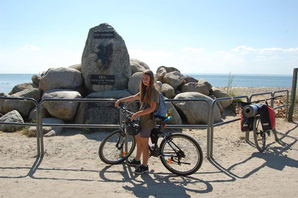 Zatoka Pucka na rowerach z sakwami