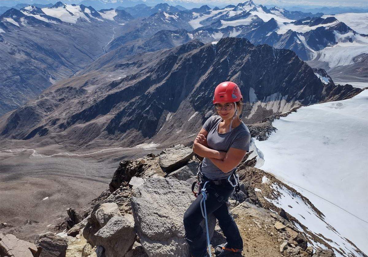 lodowiec Wildspitze (3768 m n.p.m.) w Alpach